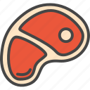 filled, food, grilled, meat, outline, steak icon