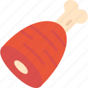 food, ham, meat icon