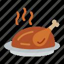 broast, chicken, meal, meat, roast, tongdak, whole
