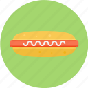 hotdog, juicy hotdog, meat, tender hotdog icon
