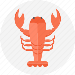 crawfish, food, lobster, lobster claw, sea food icon