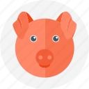 meat, pig, pig head icon