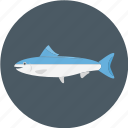 blue salmon, fish, salmon, sea salmon icon