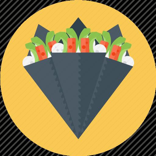 food, japanesefood, sushi, temaki, temaki sushi icon