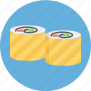 hand roll, japanese roll, roll, sushi, sushi roll icon