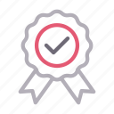 achievement, badge, bravery, medal, winner icon