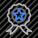 badge, champion, medal, rank, winner icon