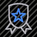achievement, badge, champion, medal, shield