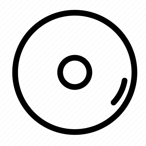 cd, media, multimedia, storage device icon