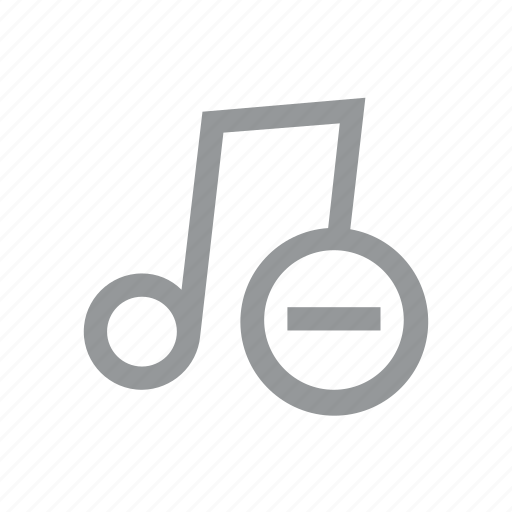 konnn, music, note, play, player, remove, song icon