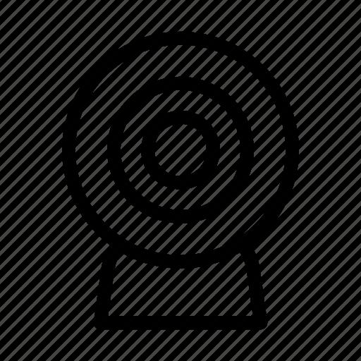 camera, cctv, media, play, social icon