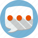 bubble, chat, conversation, message, phone, speech icon