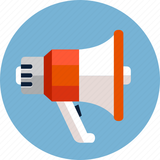 bullhorn, loud, loudspeaker, megaphone, propaganda, sound, speaker icon