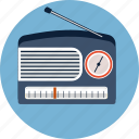 radio, antenna, audio, fm, speaker, station, volume