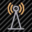 antenna, satellite, signal, tower, wireless icon