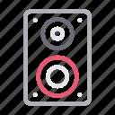 audio, loud, music, speaker, woofer icon