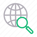 browser, global, internet, online, search icon