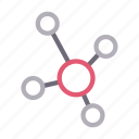 connection, internet, link, sharing, social icon