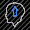 arrow, growth, increase, mind, up