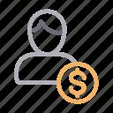 account, avatar, dollar, profile, user