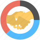 business agreement, business deal, business partnership, businessman handshake, joint venture icon