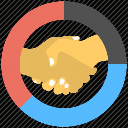 business agreement, business deal, business partnership, businessman handshake, joint venture icon