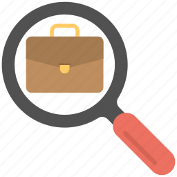 business search, career opportunities, employment search, job hunting, job search icon