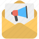 email advertising, email marketing, online marketing, promotion marketing, promotional email icon