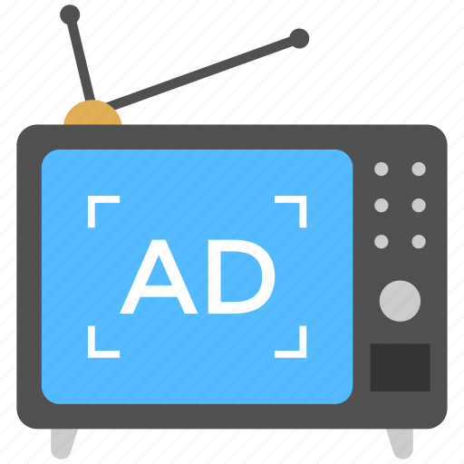 branding, commercial, television advertisement, tv advert, tv commercial icon