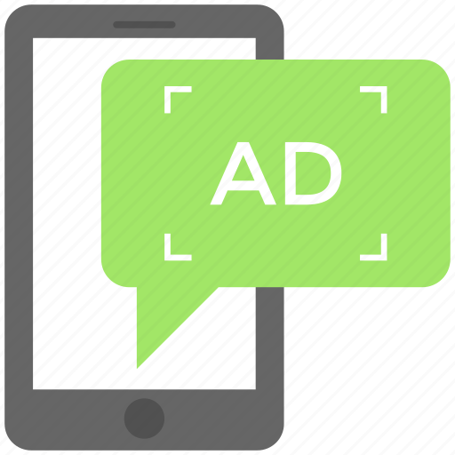 digital advertising, mobile advertisement, mobile marketing, promotional message, viral marketing icon