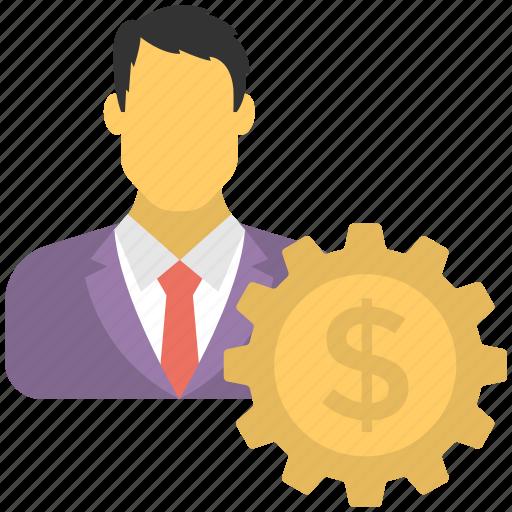 business development, financial development, financial management, investor, stockholder icon