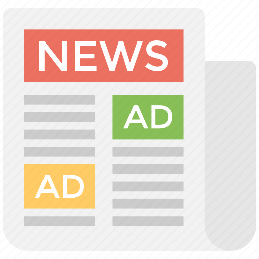 classifieds, newspaper advertising, print ad, print advertising, print media advertising icon