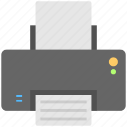 copier, facsimile, printer, printing hardware, printing press icon