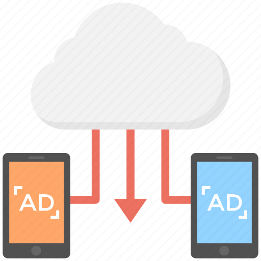 cloud advertising, cloud-based mobile media, mobile affiliate network, mobile marketing cloud, mobile marketing network icon