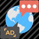 global advertising, international marketing, online marketing, outbound marketing, worldwide advertising