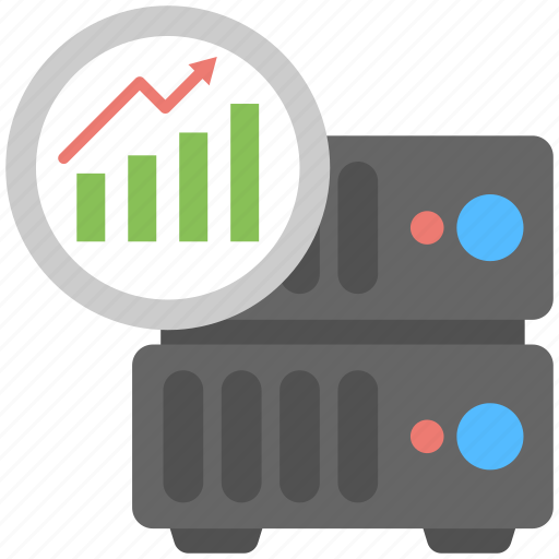 algorithm of web hosting, hosting statistics, internet statistics, web usage statistics, website traffic statistics icon