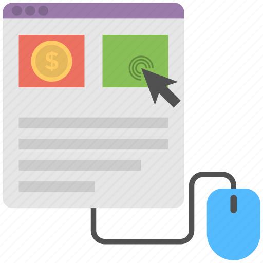 cost per impression, internet advertising, pay per click, ppc, search engine advertising icon