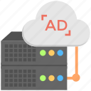 ad server, ad serving, advertising software, server advertisement, web server icon
