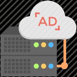 ad server, ad serving, advertising software, server advertisement, web server icon