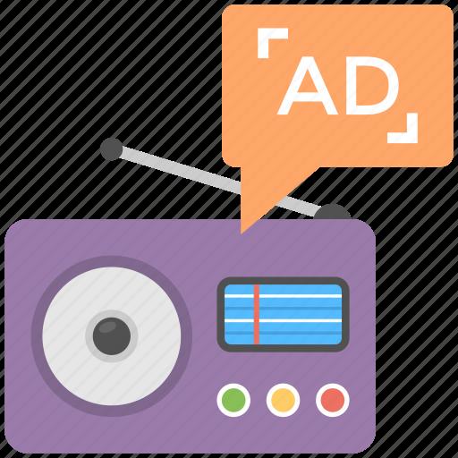 audio marketing, on air advertising, radio ad, radio advertising, radio marketing icon