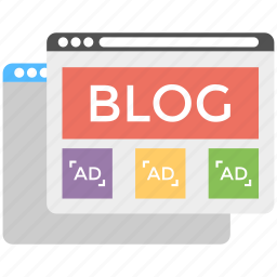 blog management, blogging, content marketing system, social media page, viral marketing icon