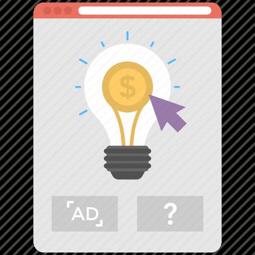 advertising idea, advertising solution, creative idea click, marketing creative idea, marketing solution icon