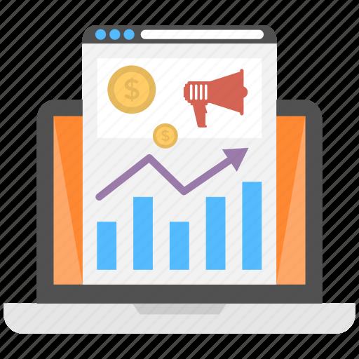 internet marketing analysis, internet marketing survey, seo graph, web marketing analytics, webpage ranking icon