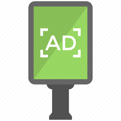 advertising, advertising stand, banners, billboard, sign board icon
