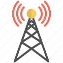 broadcast tower, communication tower, internet signals, signals tower, wifi tower icon
