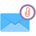 email attachment, email link, inbox attachment, newsletter, spam message icon