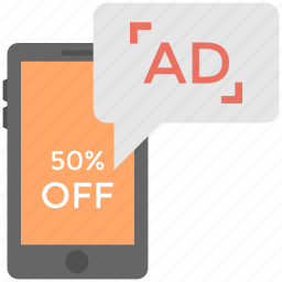 mobile media advertising, promotional media, promotional mobile sms, sale message, viral marketing icon