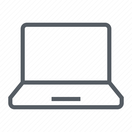 computer, laptop, screen, technology icon