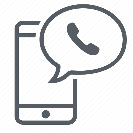 call, communication, message, mobile, phone icon