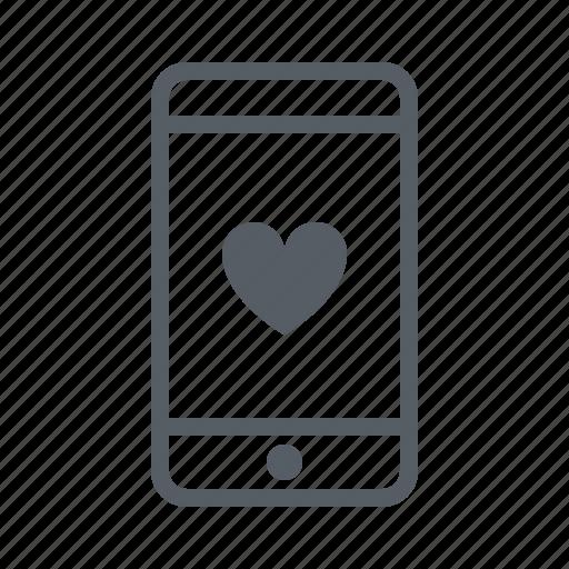 communication, message, mobile, phone, romantic, text icon